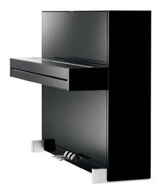 Design contemporâneo no piano Schimmel do tipo apartamento ou armário.