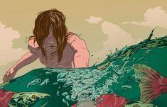 Juxtapoz Magazine - Johnny Dombrowski Illustration
