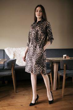 143bc0aeb55 Замшевое платье VIVIAN рубашечного кроя в змеиный принт Garne 3032727