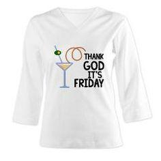 Thank God Its Friday Women's Long Sleeve Shirt (3/