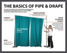 What is Pipe and Drape? Check out our resources to learn more about the best way to define space.