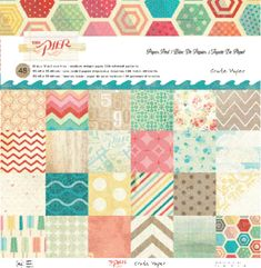 CRATE PAPER-The Pier love it and want the collection pack. The hexagons look like beach umbrellas!!!!
