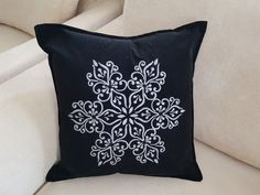 Items similar to Black Suede Velvet Hand Painted Throw Pillow Cover Decorative Cushion Silver Mandala Design Inches on Etsy Throw Pillow Covers, Throw Pillows, Fringe Scarf, Decorative Cushions, Some Times, Mandala Design, Pillow Inserts, Black Suede, Gifts For Her