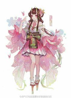 Anime Chibi, Kawaii Anime, Manga Anime, Anime Kimono, Character Concept, Character Art, Manga Dragon, Anime Angel, Beautiful Anime Girl