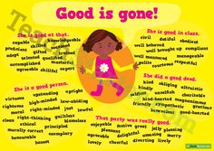 Other words for 'Good' Synonym Poster | Teaching Resources - Teach Starter