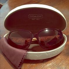 Coach Sunglasses *Never Used* Brand New, brown and tan, Coach sunglasses. Sunglasses are in perfect condition and comes with the matching case and cleaning cloth. I'm in love with all things Coach but brown is just not my color so I never wore them. **I DON'T DO TRADES** When making me an offer, please keep in mind that these are new. So please no lowball offers!!! Coach Accessories Sunglasses