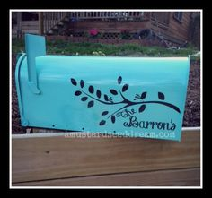 Hey, I found this really awesome Etsy listing at https://www.etsy.com/listing/158807594/personalized-mailbox-decal-with-branch