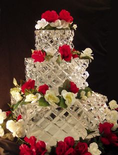Ice Sculpture Wedding Cake.