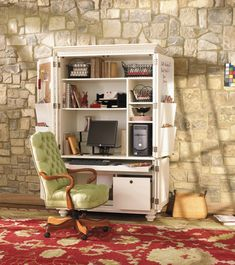 jordan's tucked in a corner hideaway armoire home office | small