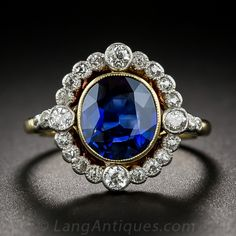 Antiques Rings A gorgeous twilight blue sapphire, weighing carats, and bearing an AGL certificate stating: 'natural, no evidence of heat or other clarity Antique Rings, Antique Jewelry, Vintage Jewelry, Silver Jewelry, Silver Rings, Pretty Rings, Beautiful Rings, Bling Bling, Jewelry Rings