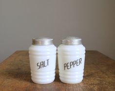 Table Top: Vintage Milk Glass S/P Shakers