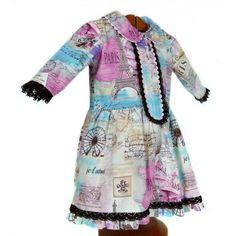Vestido original niña hecho a mano