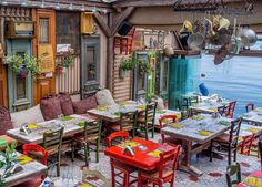 Greek taverna, Mikrolimano, Piraeus, Greece
