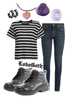 """#111 Outfit Of Today ☯"" by lobagoth on Polyvore featuring Yves Saint Laurent, R13, Eos and grunge"