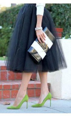 Womens modest aline double layer tulle skirts available in black, navy, khaki and charcoal.  #skirts #Apostolic #Clothing #pentecostalfashion