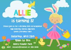1500 easter birthday invitation my 1st easter birthday party easter birthday party invitation printable by bear river photo greetings filmwisefo
