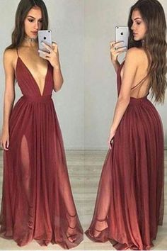 Cheap Prom Dresses Long,Prom Dresses for Teens,Prom Gowns on line,Burgundy Prom Dresses,Burgundy Simple V neck Tulle Long Prom Dress,Party Dresses for Girls,Evening Dress,M73