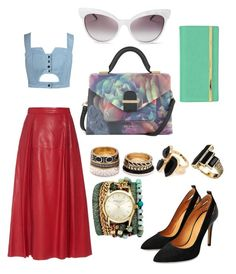 """""""Love.Her.Spring fiesta."""" by odettemashego on Polyvore featuring Sara Designs, Ted Baker, Gucci, Forever 21, Wildfox, Chicnova Fashion, Stella & Max, River Island and House of Harlow 1960"""
