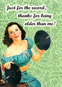 Just For The Record Card, Retro, Kitsch, RetroandKitsch.com, Retro products, 1950s, 1940s, 1930s
