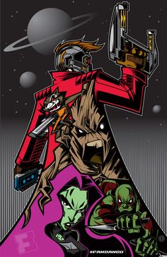 Guardians of the Galaxy_Propaganda Poster_Exclusively for Fandango by Tracy Tubera Marvel Dc Comics, Marvel Heroes, Marvel Characters, Marvel Avengers, Captain Marvel, Captain America, Gardians Of The Galaxy, Comic Manga, Marvel Wallpaper