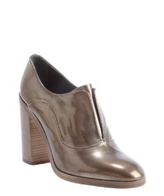 Reed Krakoffbronze shined leather oxford pumps