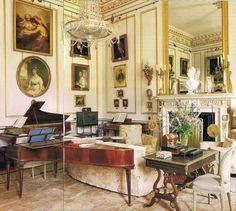 Alec Cobbe, a painter-designer-musician lives at Hatchlands Park, a National Trust property in Surrey, England. The Drawing Room as seen in March 1996 issue of AD - The Devoted Classicist