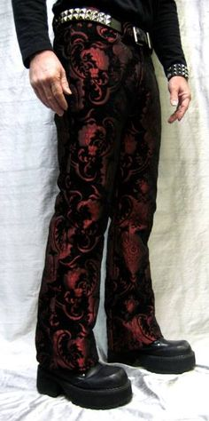 Store Temporarily Closed for Maintenance-Store Temporarily Closed for Maintenance Shrine Gothic Wedding Red Tapestry Pants - Steampunk Fashion, Gothic Fashion, Steampunk Pants, 50 Fashion, Mens Fashion, Gothic Pants, Gothic Men, Cosplay, Dieselpunk
