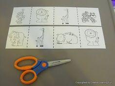 Zoo Cutting Practice & Who Am I? game downloads Preschool Jungle, Toddler Preschool, Preschool Printables, Preschool Crafts, Jungle Animals, Wild Animals, Literacy Bags, Zoo Phonics, Zoo Activities