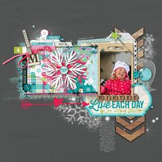 adorable #winter #scrapbook page from Kayleigh at DesignerDigitals.com