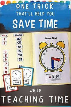 Some students grasp telling time easily while others need more practice. But who has time for extra practice? You do! Pop a few Telling Time file folder activities into your math centers and that's it. Your students can do them in the morning, during centers, or when they finish their work early. You can even send them home as homework activities. You can make your own or save yourself the hassle and purchase mine!