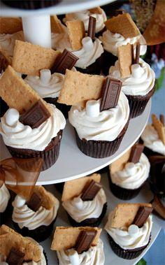 Smores Cupcake Tower