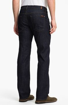 7 For All Mankind® 'Austyn' Relaxed Straight Leg Jeans (Dark Clean) | Nordstrom. Made in USA