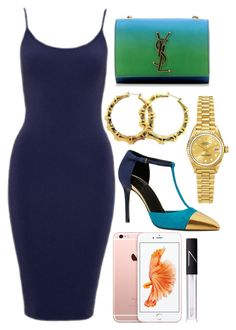 """Untitled #61"" by jadebando ❤ liked on Polyvore featuring Yves Saint Laurent, Fergie, Rolex, Gucci and NARS Cosmetics"