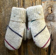 Striped Naturals   The Original Muttons Handmade by MuttonsMittens, $39.00