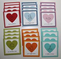 Cute Valentine card set using Paper Trey Ink's Tiny Treats Valentine set