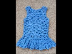 Crochet Patterns| for free |crochet baby dress| 1451
