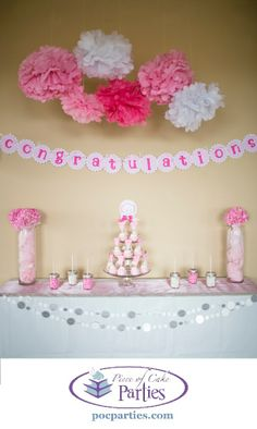 Tickled pink birthday shower. By Piece of Cake Parties.  Charming.  Effortless.  Affordable.