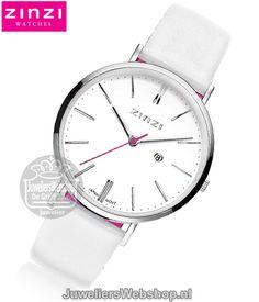 Zinzi ZIW406W Retro dames horloge Wit