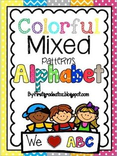This ABC line is perfect for any themed classroom! It is brightly colored and has a wonderful mix of patterns that makes it look beautiful in any classroom.