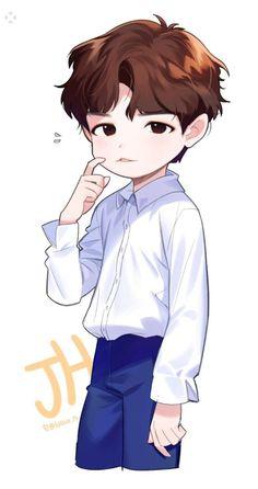 Bts Chibi, Anime Chibi, Anime Art, Idol 3, Jaehwan Wanna One, Korean Drama Romance, Wallpaper Wa, First Animation, Boy Drawing