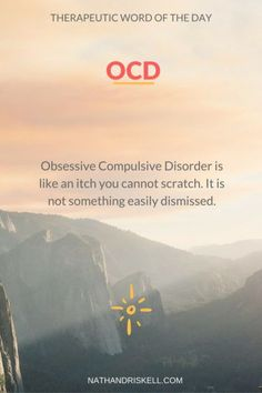 OCD is a terrible condition that robs your focus and limits your behavior. Do not underestimate it, or limit the suffering of those with it. #OCD #anxiety http://nathandriskell.com