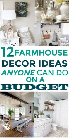 These farmhouse decor ideas are the best! I'm so happy I found these AWESOME fixer upper ideas! Now I have some great ways to make my home have more of the farmhouse style! #farmhousedecor #farmhouseonabudget