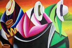 Cuadros Decorativos Pintura Moderna Decorativa Pintura Óleo Abstractos Modernos Abstracto Moderno y Decorativo Cuadro Moderno Cuadros... Umbrella Painting, Cardboard Box Crafts, Cubism Art, Southwest Art, Mexican Art, Painting Inspiration, My Drawings, Abstract Art, Pastel