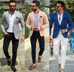 classymensfashion is part of Mens wedding attire - Blazer Outfits Men, Mens Fashion Blazer, Mens Fashion Wear, Big Men Fashion, Suit Fashion, Look Fashion, Fashion Hair, Casual Blazer, Plaid Blazer
