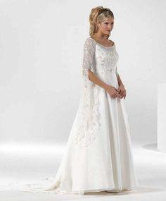 long sleeve plus size wedding dresses with an empire waistline   Organza Wedding Dress Long Sleeves