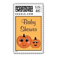 Halloween Pumpkin Baby Shower Postage