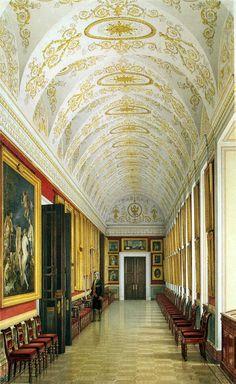 Watercolor, KA Ukhtomsky   Winter Palace, Smolny