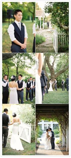 Long Island vineyard wedding: Jooin   Mau | Real Weddings | 100 Layer Cake
