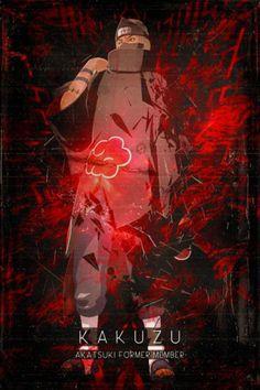 """Naruto Shippuden Red Cloud Characters Akatsuki Kakuzu artwork by artist """"SyanArt"""". Part of a set featuring artwork based on characters from Naruto Shippuden Sasuke, Itachi Uchiha, Anime Naruto, Boruto, Madara Susanoo, Shikamaru, Naruto Art, Kakashi, Akatsuki"""