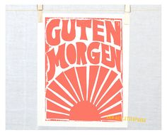 Guten Morgen  Etsy Home and Living German by RawArtLetterpress